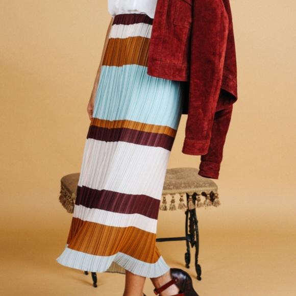 11aa5a4de7 Zara Skirts | Trafaluc Color Block Accordion Pleated Skirt | Poshmark